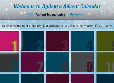 01/12/10: Discover Agilent's Advent Calendar - Great Deals in December!