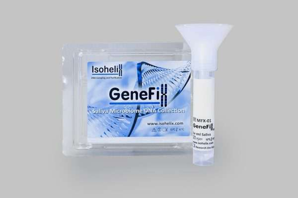2 x GFX Saliva Microbiome Collectors (Includes funnel, tube filled with 1ml stabilisation buffer, cap, & instruction manual)