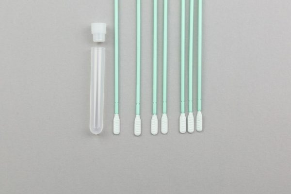 Mini swabs - 100 x 1 swabs with 5ml tube, individually wrapped and ethylene oxide treated
