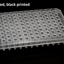 Semi Skirted 96 well PCR plate + black print grid 25/box